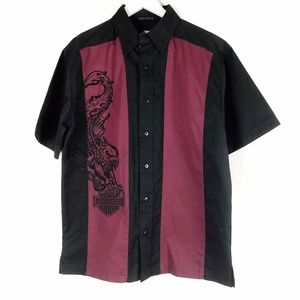 NEW Harley Davidson Short Sleeve Button Up